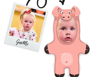 Custom face pillow for kids   Mini me doll   Plush stuffed photo face doll   Personalized funny stuffed toy printed face plushy pig and duck