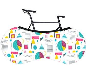 Textile bike cover, Printed foldable cover, Wheelpants, Wheel pants, Bicycle cover, Bike carrying, Foldable bicycle bag, Bike bag