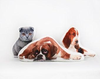 CUSTOM pet photo pillow, personalised Stuffed cat, cat photo pillow, pet portrait, pet pillow, pet lover gift, Cat photo pillow, Cat lover