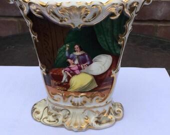 Magnifico Vaso In Opalina Xix Montatura In Bronzo Dorata