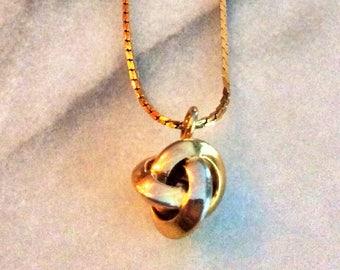 Vintage Gold Napier Knot Choker Necklace
