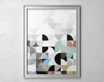 Abstract Geometric Art Prints Abstract Art Prints Poster Wall Art Print Abstract Wall Art Modern Art Geometric Poster Modern Wall Art