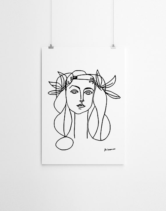 Wall Art Picasso Imprimer Picasso Croquis Noir Et Blanc Impression Picasso Dessin Femme Noir Et Blanc Art Line Ligne D Art Dessin