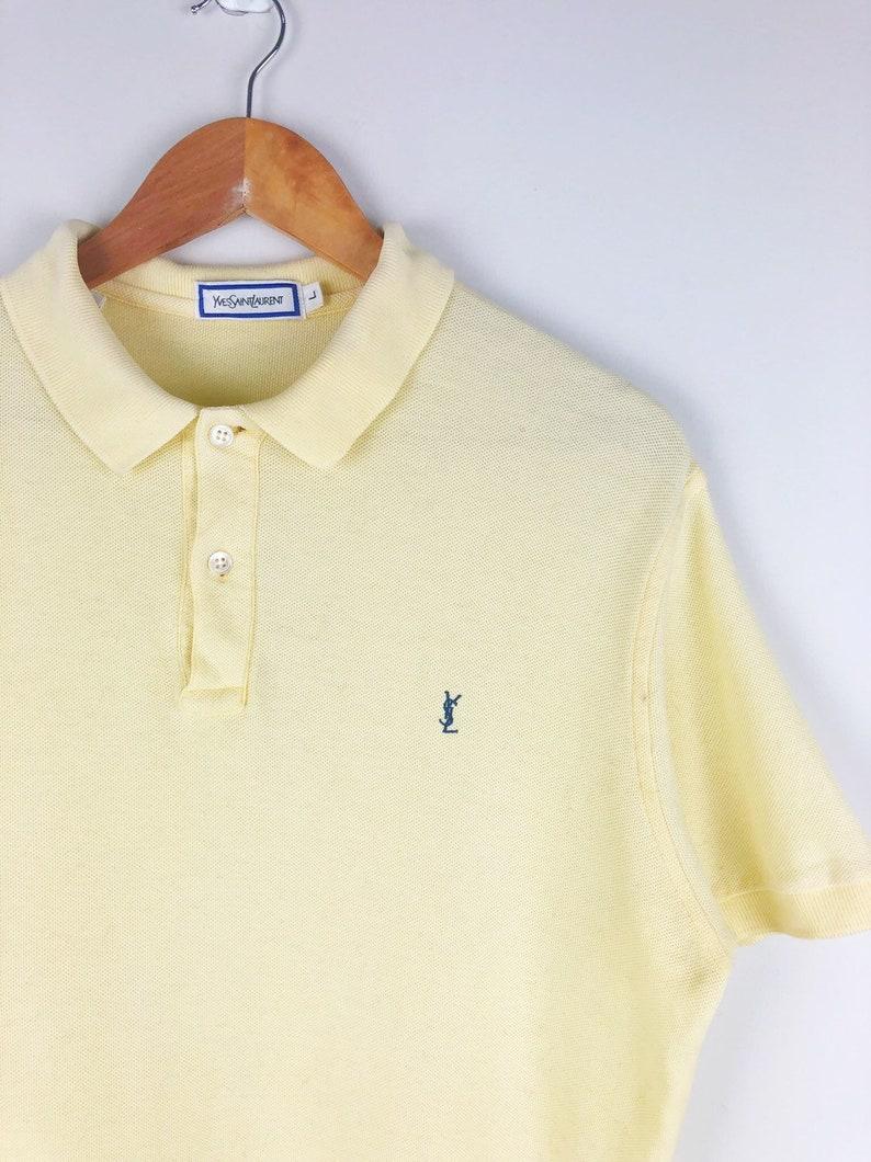 fa9a6556 Vintage Yves Saint Laurent Ysl Polo Shirt Small Logo Yellow | Etsy