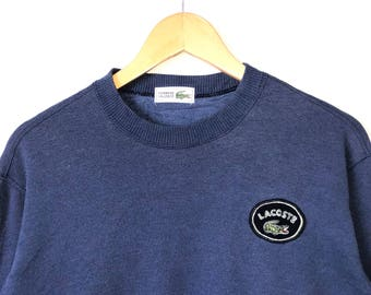 Vintag Lacoste Jumper Sweatshirt Big Logo Spell Out Lacoste Japan