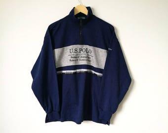 On Sale! US Polo Half Zipper Sweatshirt Polo Outdoor Polo Streetwear Polo Arena Size L
