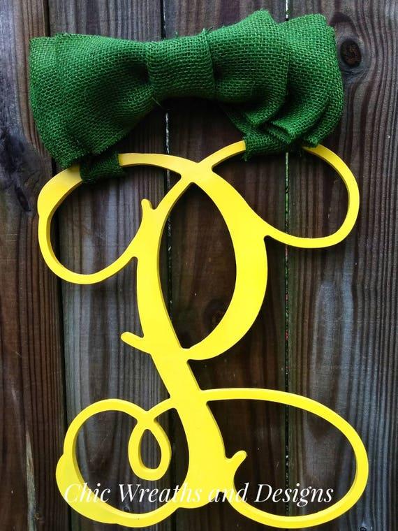 Monogramed reinder door hanger