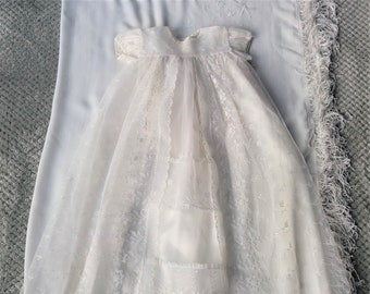 d87ae777e9 1960s Christening Dress and Shawl  Spring Sale! Reduced by 10%!