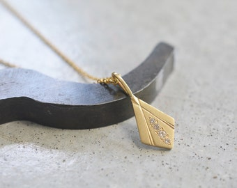 14K Solid Gold Dainty Geometric Necklace