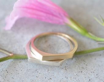 14k gold wedding ring,14k gold minimalist wedding ring,14k gold  solid ring, wedding simple bands, unisex wedding set, 14k gold wedding band
