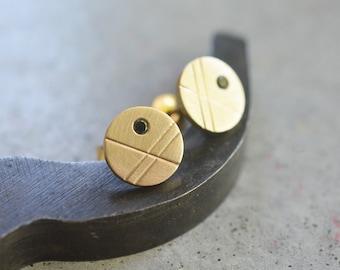14k solid gold black diamonds stud earrings, solid gold stud earrings, yellow gold stud earrings, 14k women stud earrings