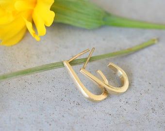 Bride earrings,14k gold vintage earrings, 14k gold solid earrings, gold classic earrings,solid gold stud earrings, 14k solid gold earrings