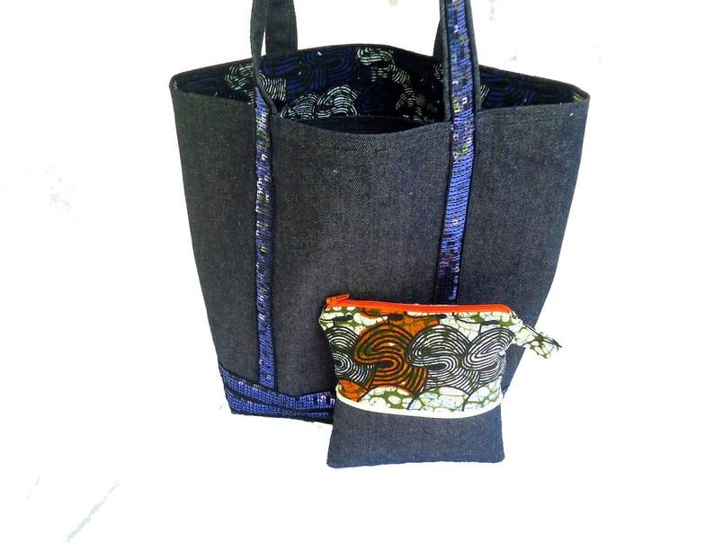 2d10248c61 Sac cabas à paillettes en toile de jean doublé d'un coton | Etsy