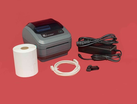 Zebra GK420d Direct Thermal Shipping Label Printer, Power Supply, Labels,  More