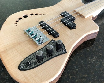 Short Scale Fretless Bass Guitar--Made to Order