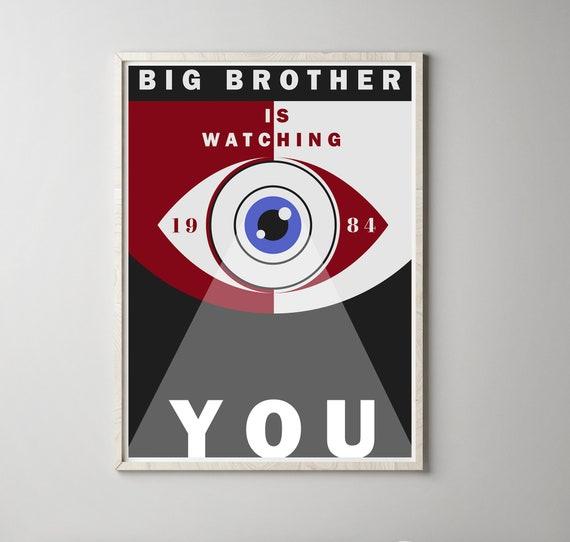 1984 Big Brother Poster Literary Art Print George Orwell