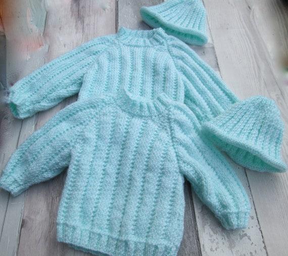 beanie with cuffs BAUERNHOF Baby Set first set 3-piece Pumphose neckerchief