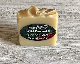 Wild Currant & Sandalwood Soap - Vegan - Handcrafted - Artisan Soap