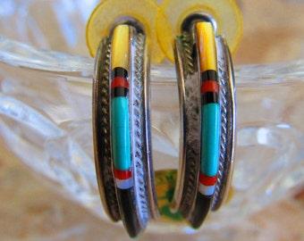 Antique Handmade Navajo Post Earrings
