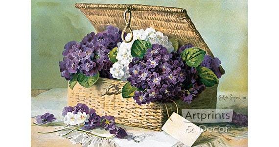 Bees /& Berries by Paul De Longpre Bird Art Print of Vintage Art