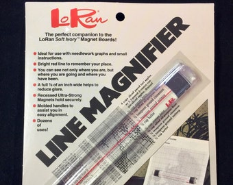 Line Magnifier, Needlework Magnifier, Magnifying Ruler, Stitching Magnifier, Vintage Magnifier, Craft Magnifier, Magnifying Glass