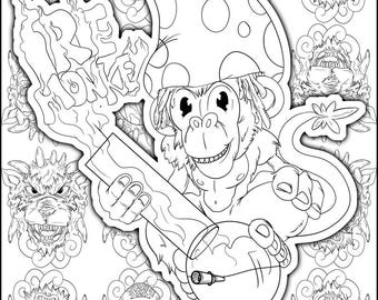Adaptable image inside printable stoner coloring pages