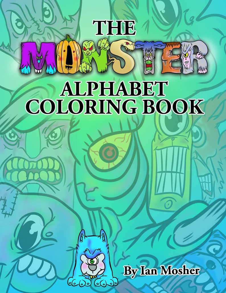 The Monster Alphabet Coloring Book Alphabet Letters Alphabet Etsy