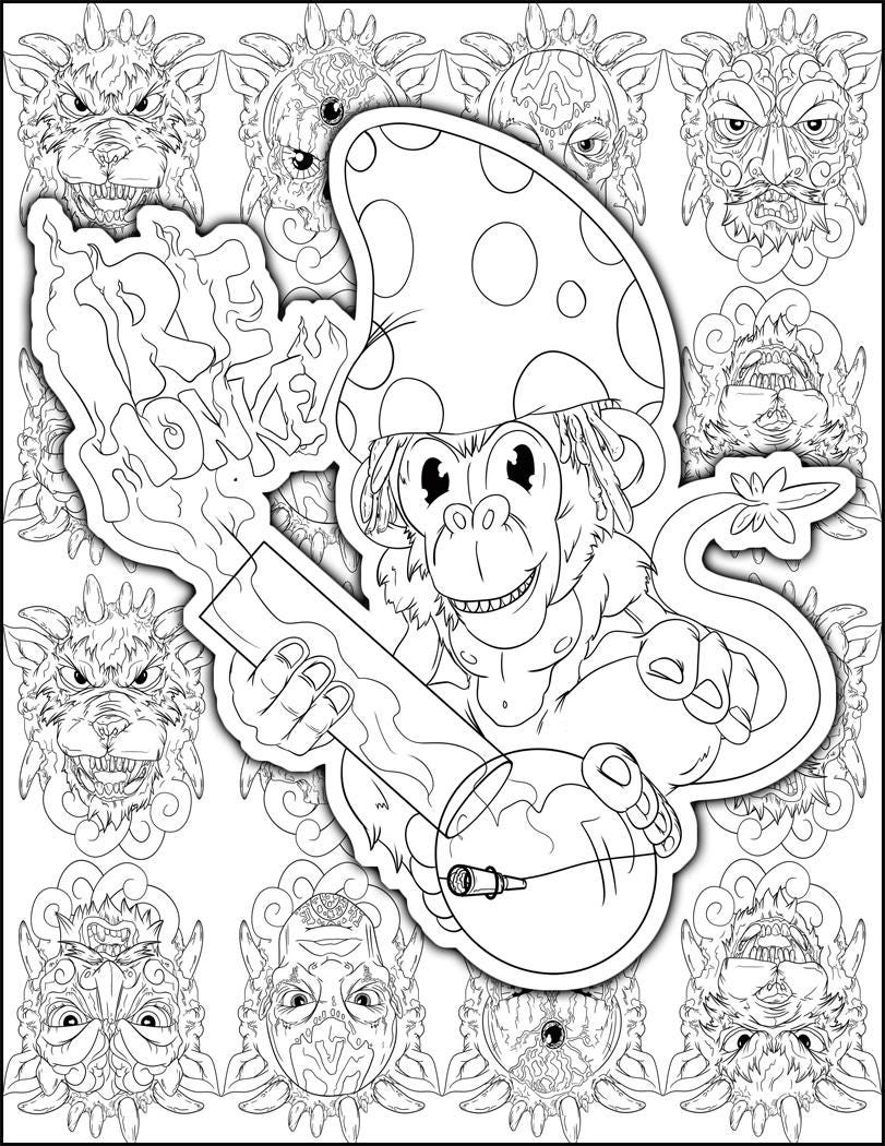 Perfect Stoner Gift Stoner Coloring Page Weed Art Adult | Etsy