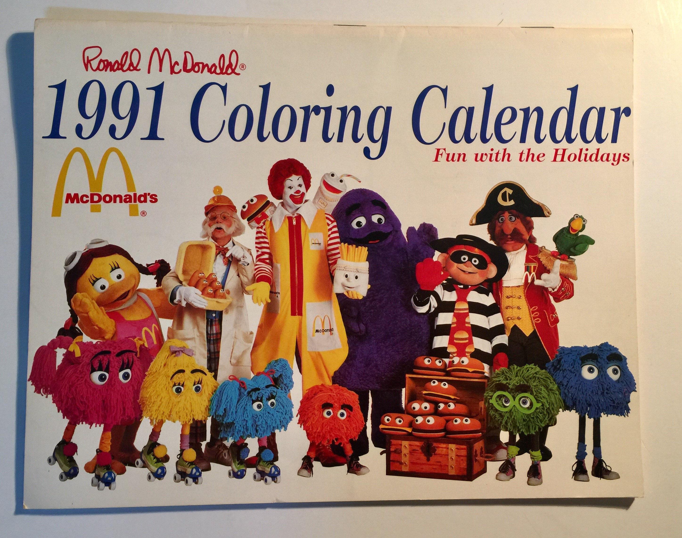 Ronald McDonald juguete de la comida rápida McDonalds Happy