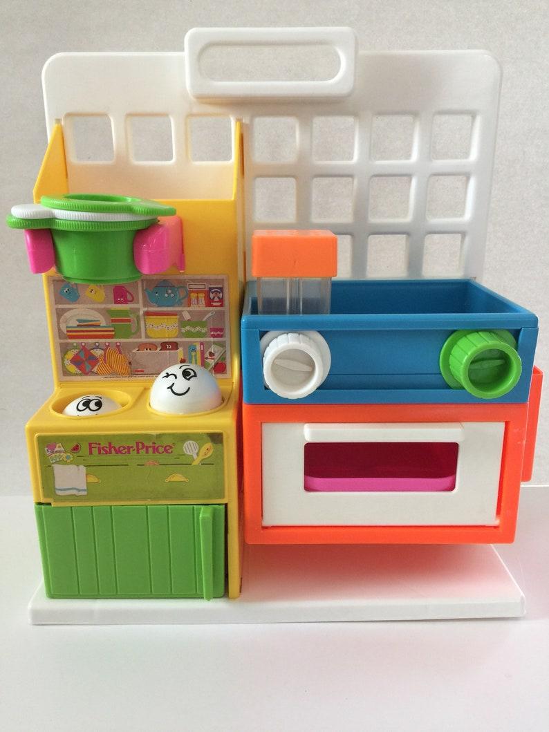 Vtg Fisher Price, Fisher Price Kitchen, Old Fisher Price, Fisher Price  Playset, Vtg Childs Toy, Kitchen Play Set, Childs Play Kitchen