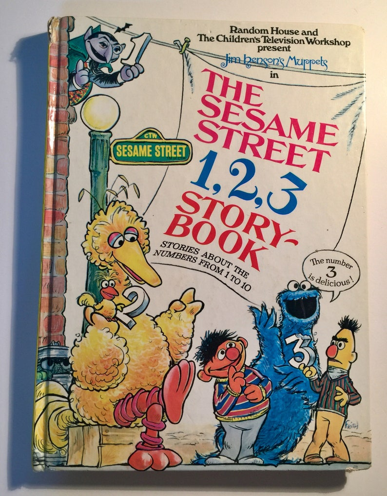 e51a6ed682f38 Sesame Street Book Sesame Street Counting Book Big Bird   Etsy