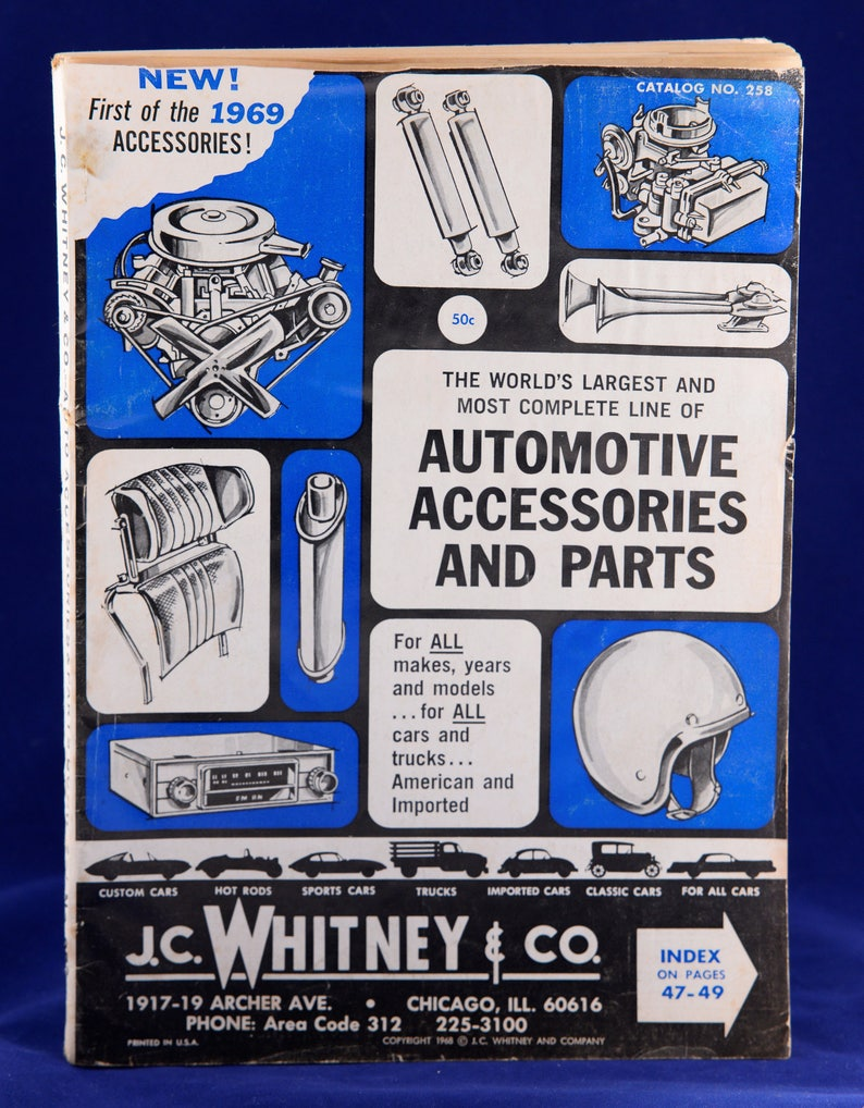 Old Car Catalog,1960s Auto Parts,Car Parts Catalog,1960s Catalog,Vehicle  Memorabilia,Old Car Magazine,Replacement Parts,Car Memorabilia