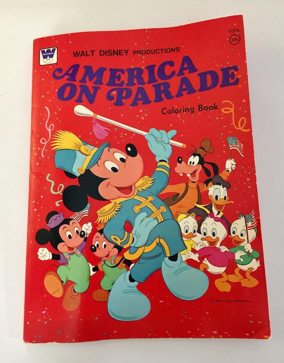 Whitman Coloring, History Coloring, Mickey Coloring, Disney Color Book,  America Coloring, Disney Coloring, Child Coloring Book,