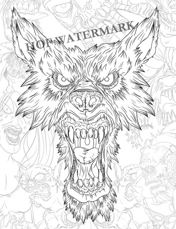 Coloring Pages Adult Coloring Book Coloring Book Coloring Etsy