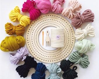 CIRCULAR WEAVING KIT no 2, round weaving kit