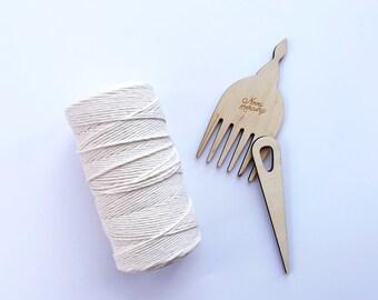 NATURAL cotton warp thread 16/8, warp string, cotton string, rug warp