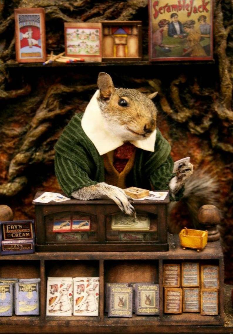 Taxidermy Squirrel and his Toy Shop  oddities curio image 0