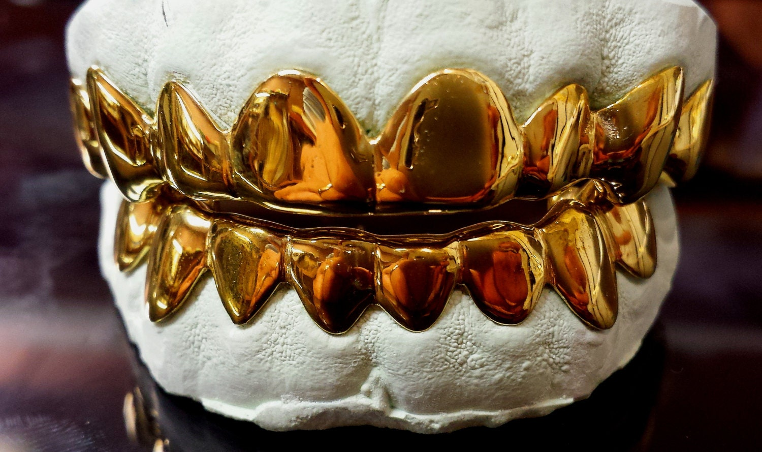14K Solid Yellow Gold Custom fit REAL Gold Grill Grillz Gold Teeth e7347439d