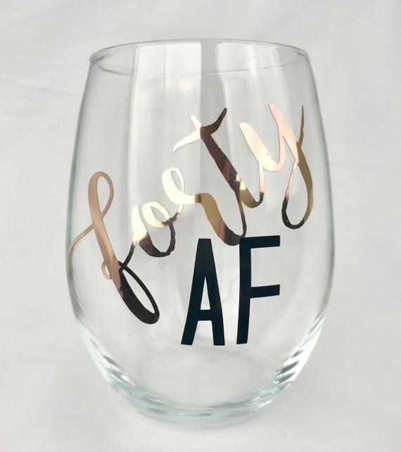 40ème anniversaire de vin en verre - quarante AF - 40 AF - 40e anniversaire pour ses décorations de partie - 40e anniversaire - quarante et fabuleux - anniversaire d'un ami