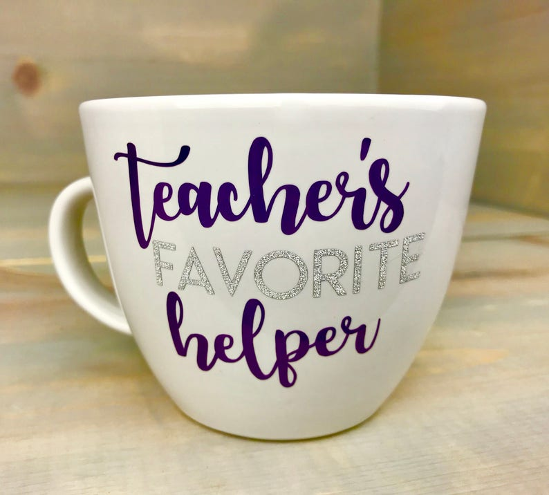 8aca667111a Teacher Coffee Mug - Teacher's Favorite Helper - Teacher Off Duty - Teacher  Gift - Teacher's Helper - Christmas Gift - Teacher Christmas