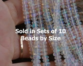 AAA Glowing Rainbow Flash Ethiopian Welo Opal Smooth Hand Cut Rondelles 3-6mm Sold in Sets of 10 Beads by Size Needs 28 Gauge