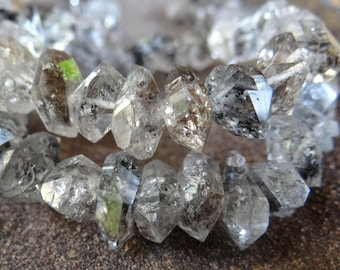 Heavy Inclusions Pakistani Herkimer Perkimer Diamond Quartz | Double Terminated Points | ~9-12x4-6mm | Sold in Sets of 4