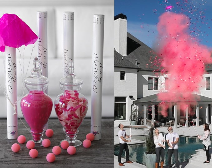 "4 x 24"" ULTIMATE CANNON PACK™  Powder, Confetti, Parachutes, and Sponge Balls"