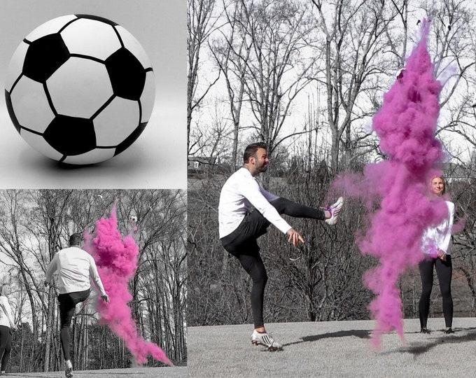 Soccer Ball Gender Reveal w/ Powder & Confetti in Pink, Blue, Green, Yellow, Orange, Purple, White! Soccer Gender Reveal Soccer Ball