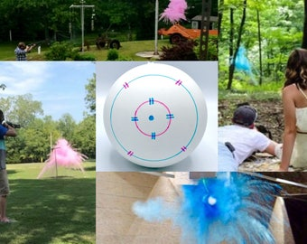 "6.25"" SHOOTING TARGET Gender Reveal Balls Pink or Blue! Ships Same Day!"