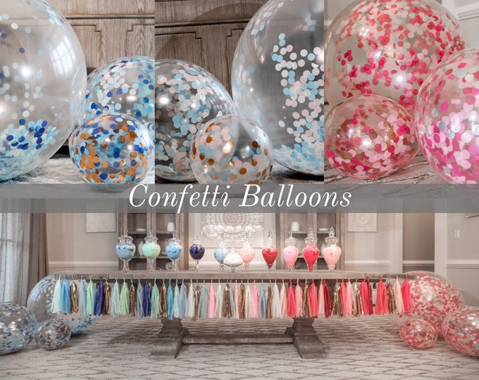"Confetti Balloons 36"" 24"" 12"" Poof Collection™"