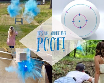 "4"" SHOOTING TARGET Gender Reveal Balls Pack (Custom Color Combinations) Ships Same Day! Gender Reveal Shooting Target"