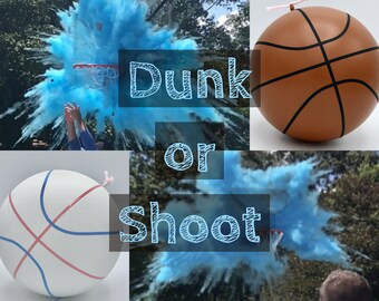 BASKETBALLS Gender Reveal Ball Filled with Pink or Blue Powder! Gender Reveal Basketball