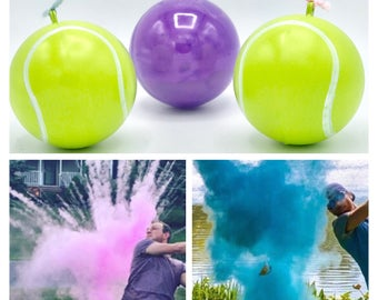 Tennis Balls for Gender Reveal Filled Pink or Blue Powder! The Perfect Gender Reveal Idea! Tennis Ball! Tennis Gender Reveal