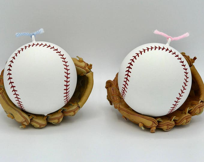 Baseball Gender Reveal Powder Baseballs in Pink or Blue Pair with Powder Cannons or Confetti Cannons! Handmade Baseball not from China